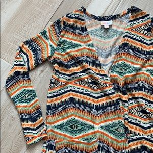 LuLaRoe Tribal Long Cardigan Long Sleeves Pockets